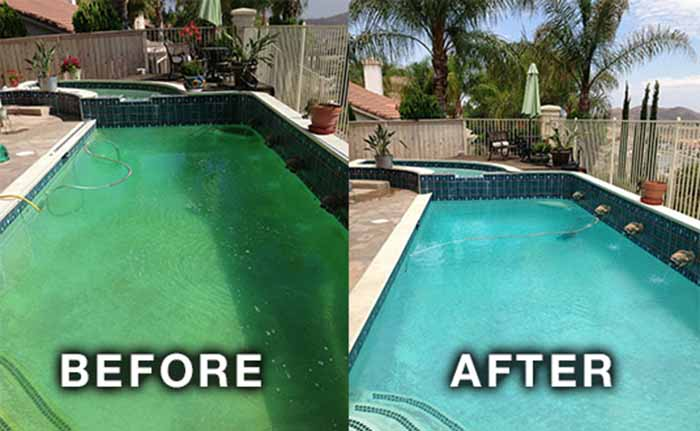 My swimming pool is green how can i fix it - How long after pool shock before swim ...