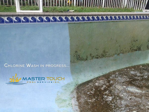 Pool Chlorine washing progress