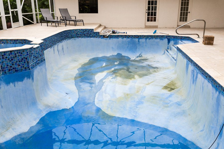 Acid Washing - Drained Pool