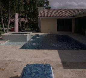 Inground Pool & Spa With Deck Jets